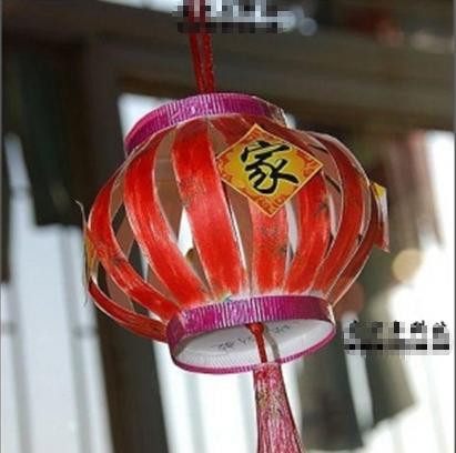 儿童手制作手工灯笼方法步骤图片一百张圆形的应该做