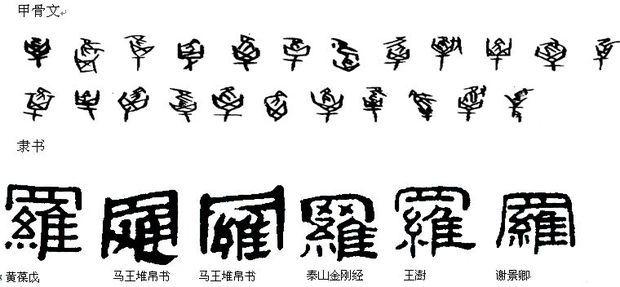 罗字书法头像图片