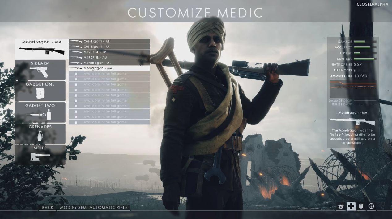 《战地1》医疗兵将得到强化