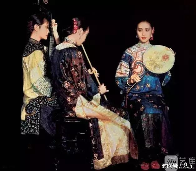 艺人物:陈逸飞 油画中的古典美女