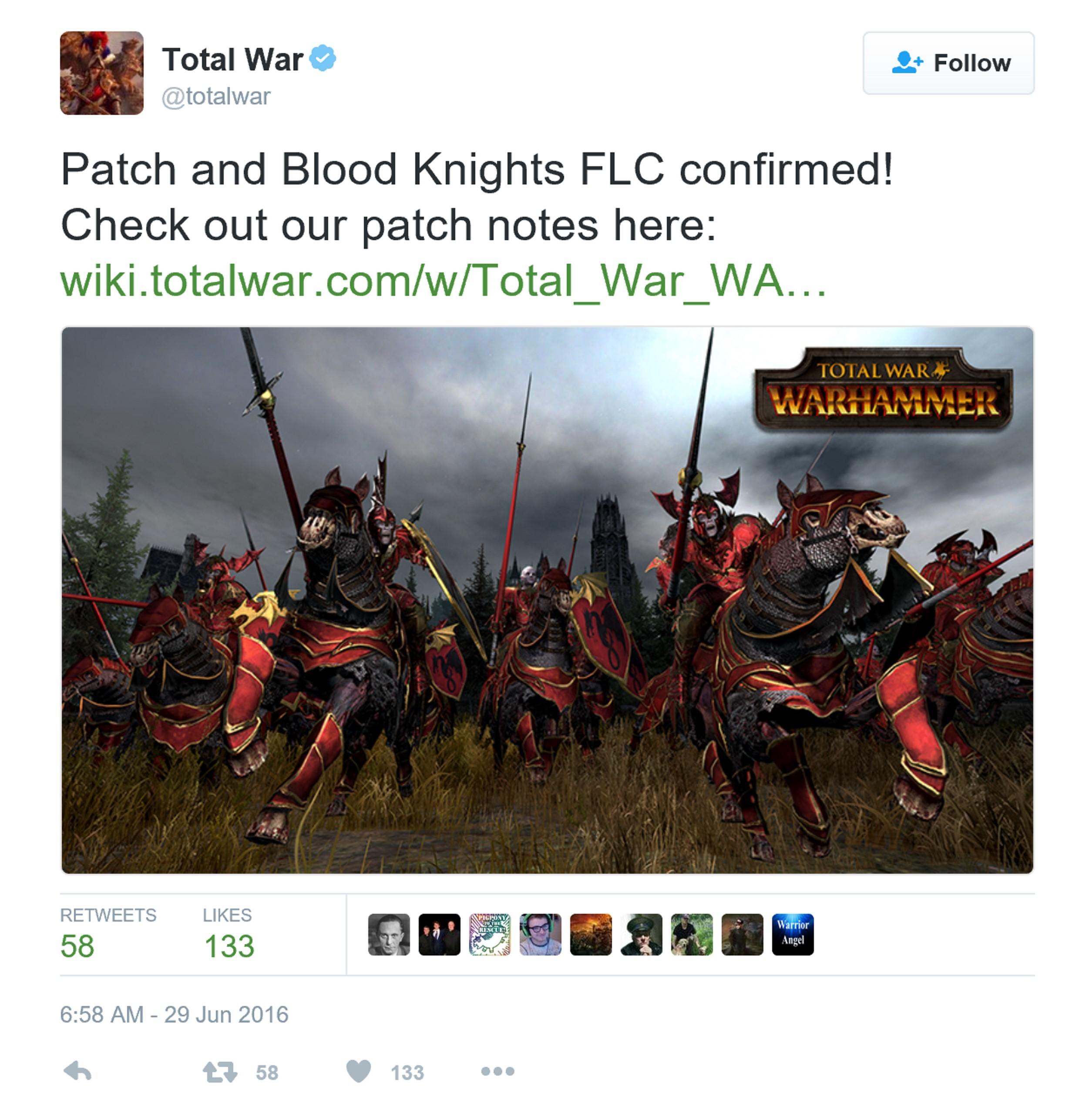 《全面战争:战锤》更新补丁