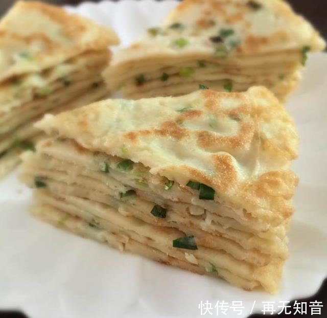 柔软筋道越嚼越香的葱花饼,一出锅就吃光