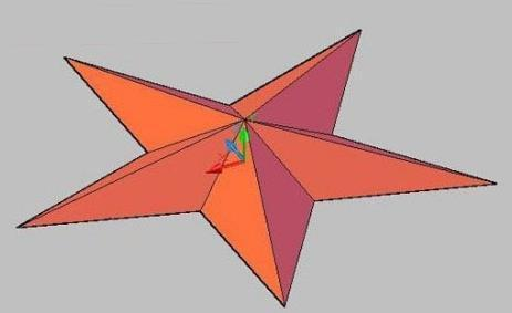 用cad画三维五角星_360问答cad放不是实体样图片