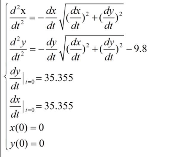 请问在matlab中如何画出此二阶微分方程组的y