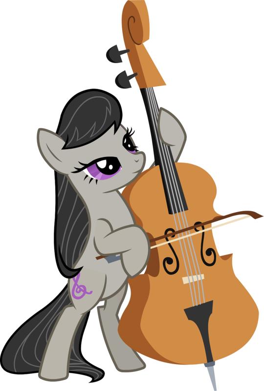 小马宝莉中拉小提琴的小马的可爱标志_360问