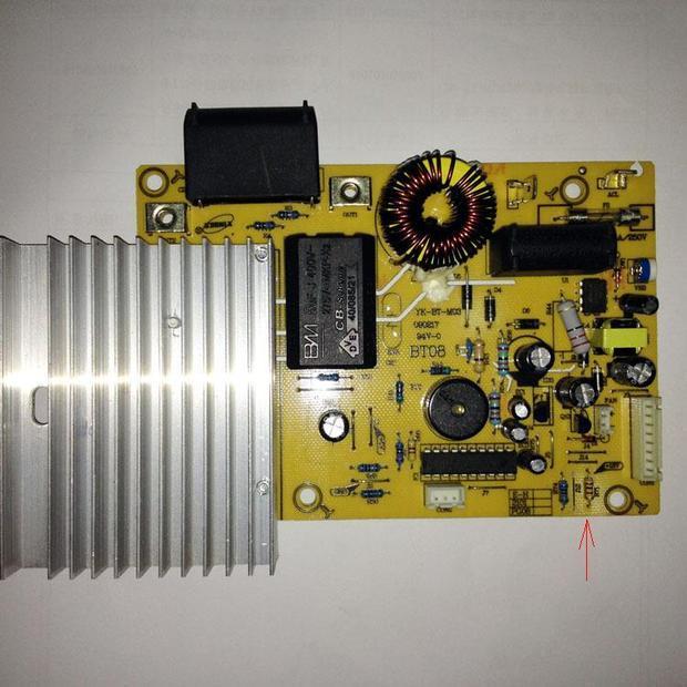奔腾电磁炉c21-pg96t 电阻烧坏了,帮忙看下