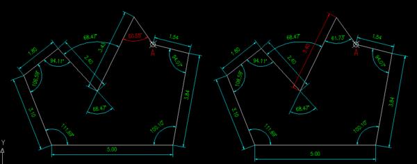 CAD相对图纸极坐标分解_360v图纸直角求解图图片