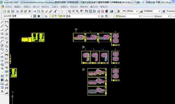 我打开CAD图后,墓碑只在左边窗口显示,图纸右边图纸v墓碑图片
