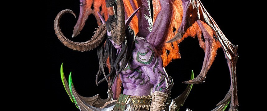 《魔兽世界》伊利丹雕塑国内将同步上市