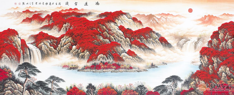 画中清幽之意   画家李林宏《鸿运当头》山水画以经典成语为题!图片