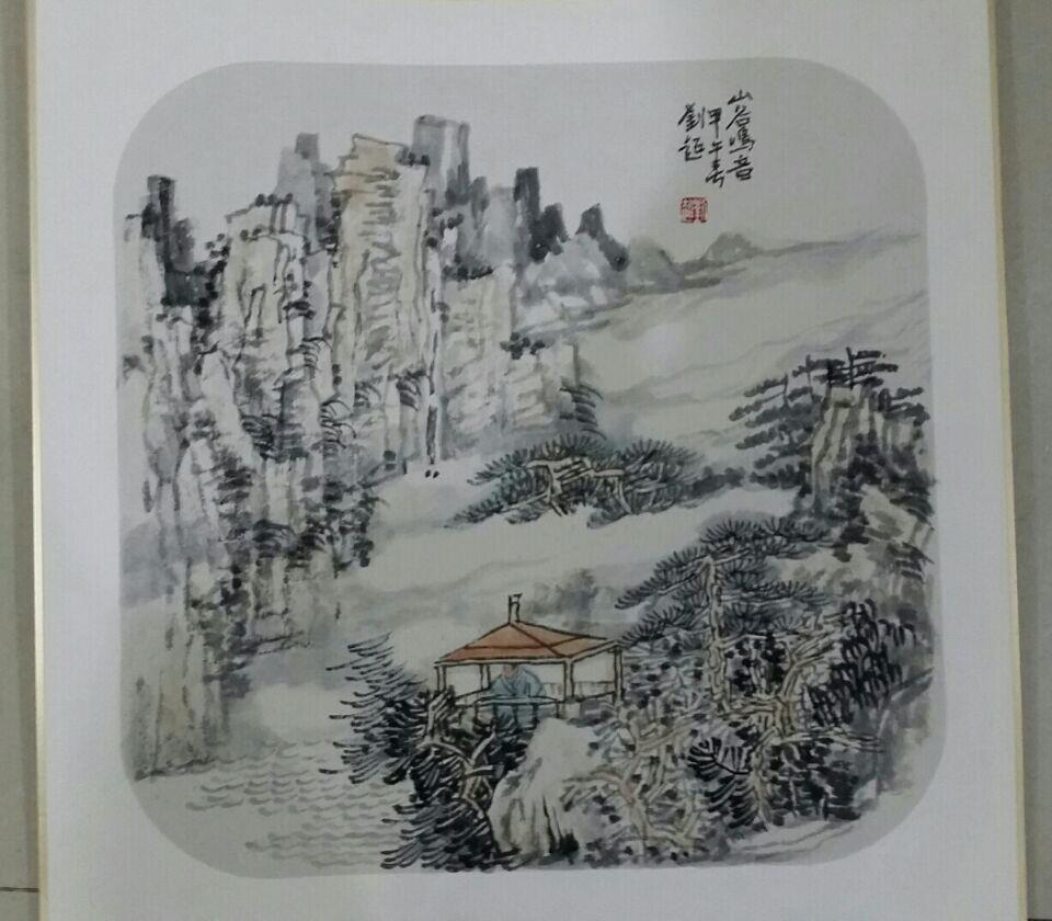 刘超国画斗方小品图片