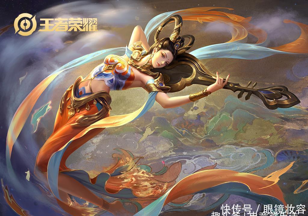王者荣耀:白蛇皮肤归属于她,伽罗获星元,张飞特效变蓝BUFF?