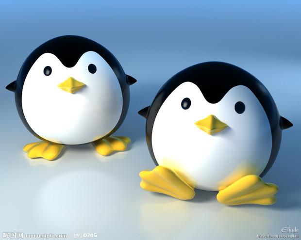 如何画正面企鹅的简笔画