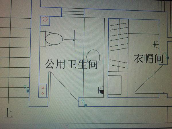 cad室内设计平面图,请问图中蓝色的和那几个红炉石设计图图片