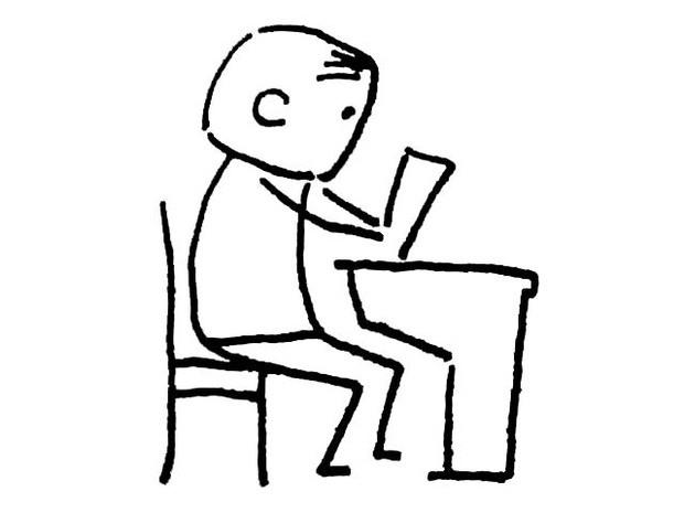 小孩读书简笔画