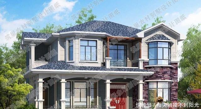 二层砖混结构20万元图纸小图纸别墅占地100平autocad简单农村图片