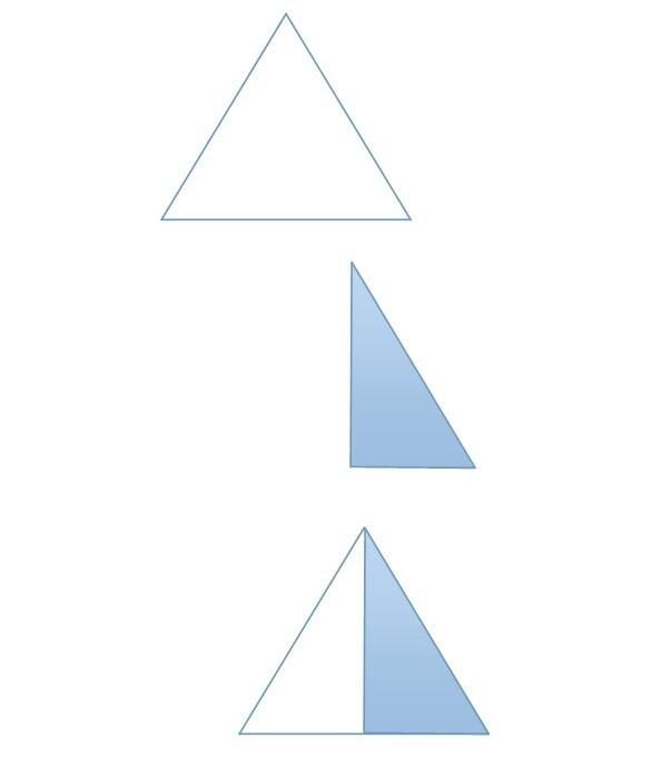 先选择三角形图标画一个三角形