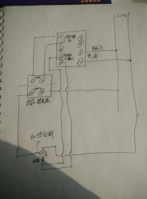 我这个温控仪和固态继电器是不是
