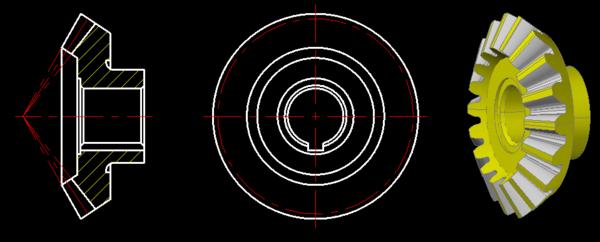 哪位发过来一个齿轮图纸的CAD圆锥,DWG格帽图纸v齿轮雷锋图片