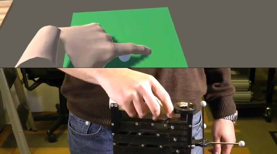 微软黑科技推出VR触摸设备