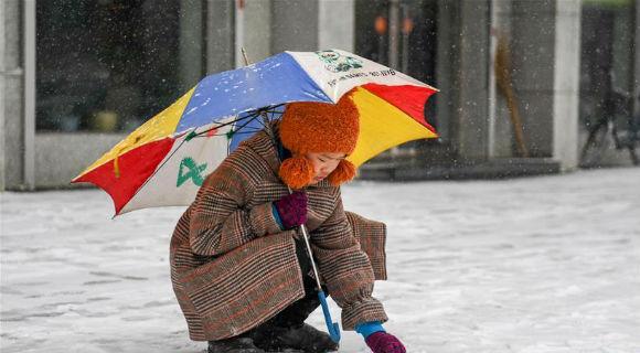 吉林四平:春分迎雪