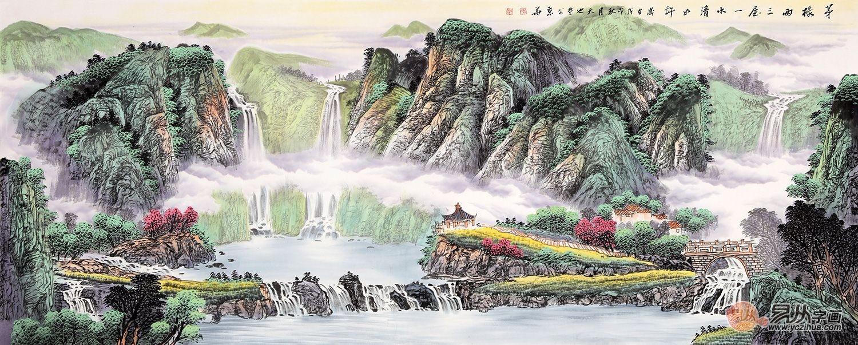 国画大师易天也,名家手绘山水画打造好风景