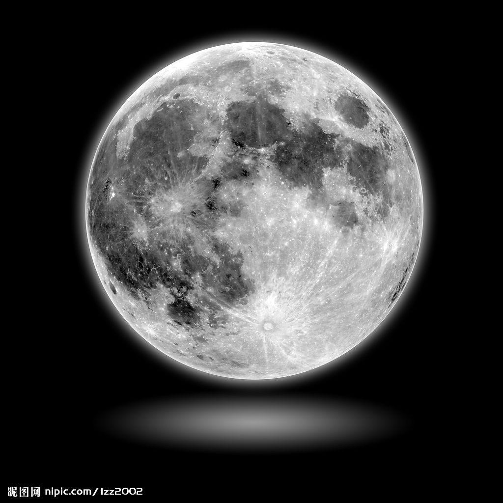 月亮手绘装饰画