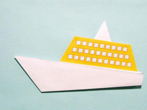 折小船-熊猫乐园折纸