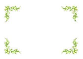 花边怎么画_黑板报花边图案简画-绿色藤蔓花边