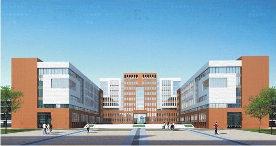 校园小广场手绘平面图
