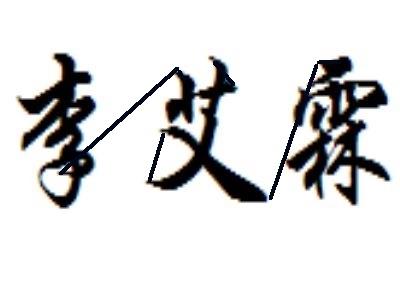 李艾霖这个名字的艺术签名怎么写