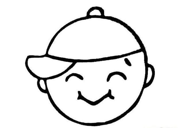 男孩表情简笔画 憨笑 小男孩 儿童简笔画图片大全