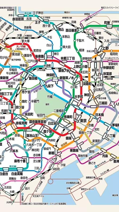 东京地铁路线图