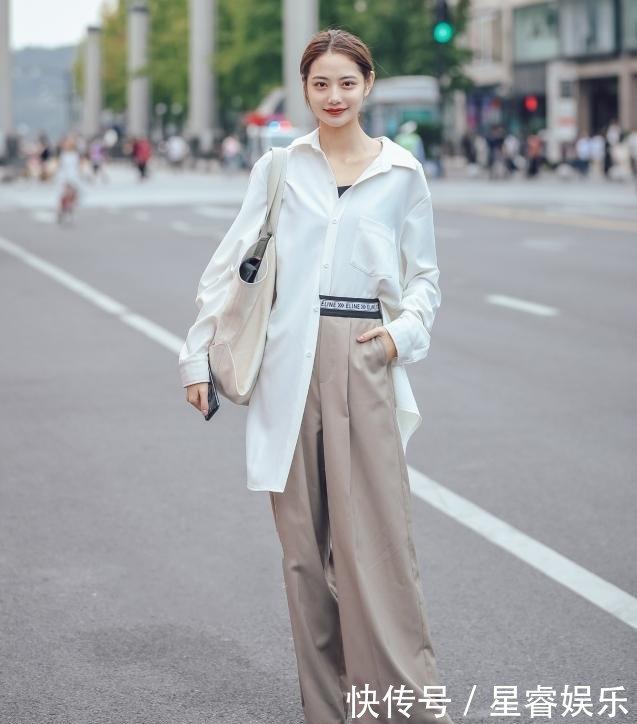 杭州街拍身材喜欢美女连衣裙,紧身美女有型,尽你凹凸吗身穿图片