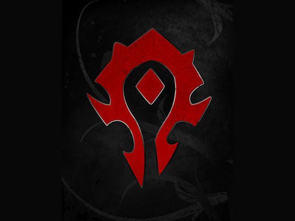 谁有魔兽世界部落标志的图片来张呗