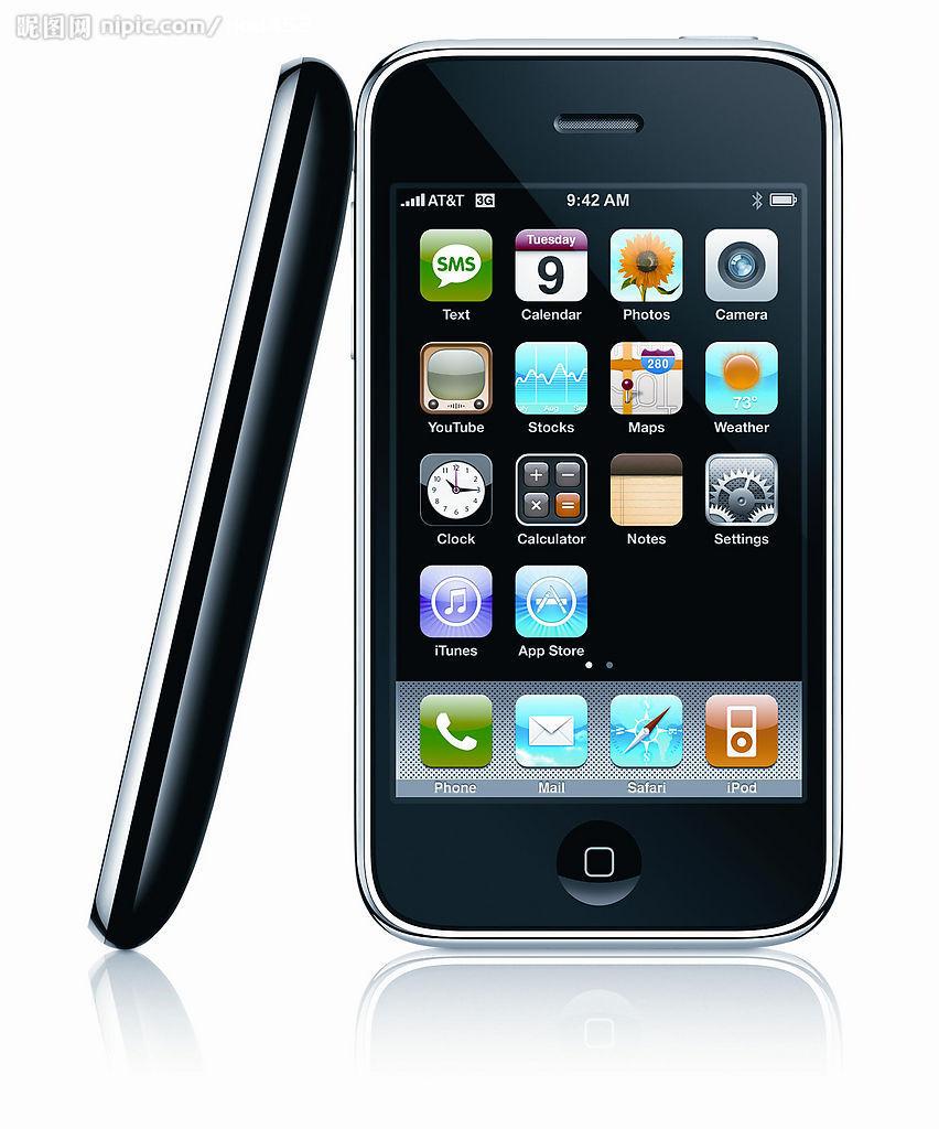 苹果手机iphone 3g摄影图