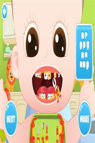 >宝宝牙医  应用介绍 你要扮演一位有爱心的牙医,宝宝的牙齿都被蛀虫