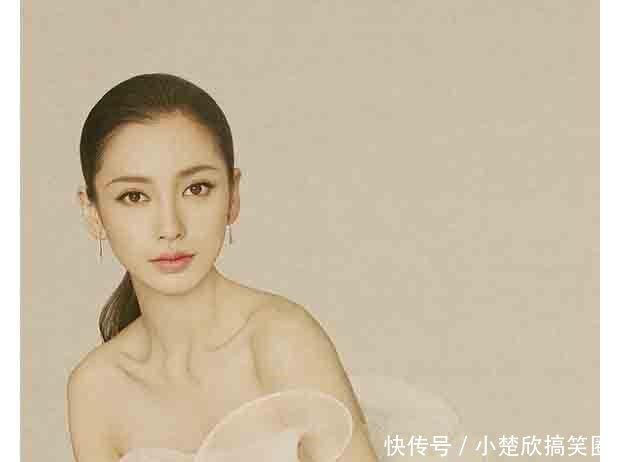 赵丽颖和baby同拍时尚新娘
