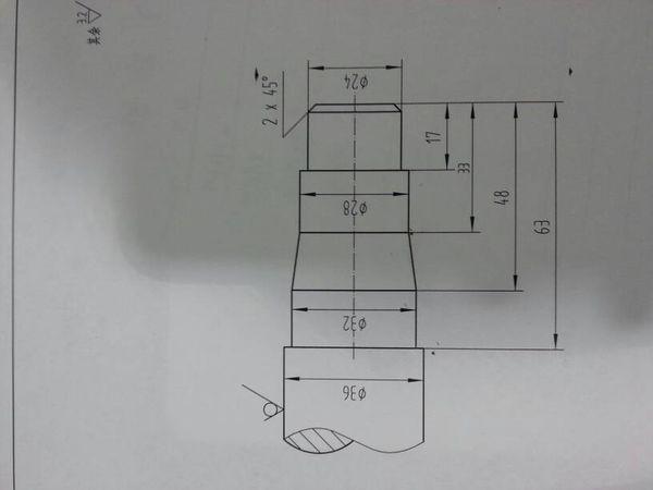 求教这个简单零件的数控机床编程。是华中数控