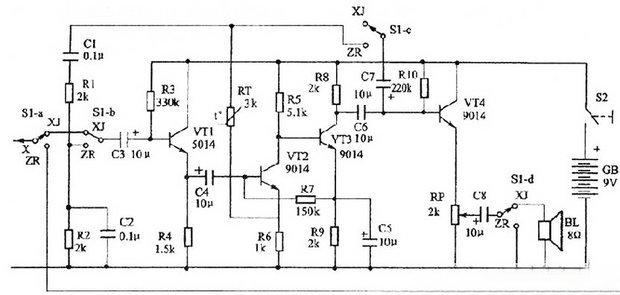 怎么通过电路检测音频信号?