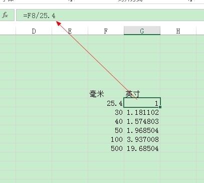 Excel里面把毫米转换成英寸?_360问答cad表格茶图片