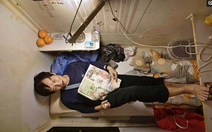 """香港""""棺材房""""蜷腿睡觉 24户共用一个马桶 -  - 真光 的博客"""