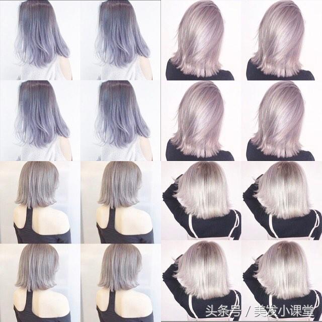 高明度透明发色,今年最流行的头发颜色