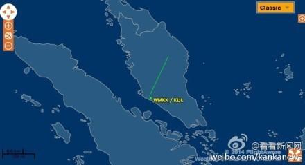 马来西亚飞往北京航班失联