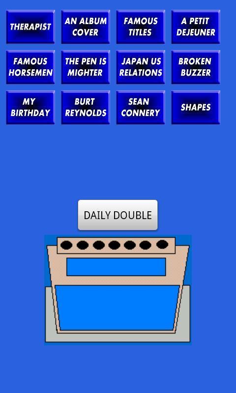 移动应用--SNL Celeb Jeopardy Sound Board